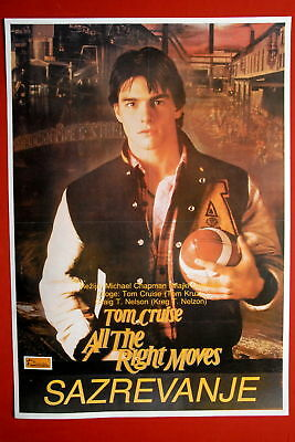 Right Moves Tom Cruise 1983 Rare Exyu Movie Poster