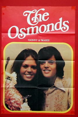 The Osmonds 1975 Rare Exyu Poster Fold Out Magazine  Osmond Marie Donny Special