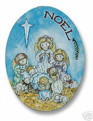 """Adoring Little Angels 3"""" High Religious Nativity Magnet"""