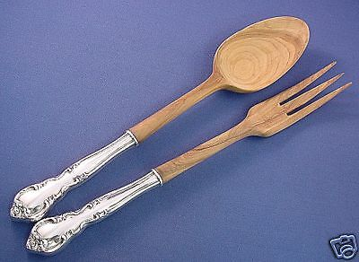 American Classic- Easterling Sterling/Wood Salad Set