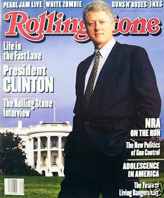 Rolling Stone 12/93 Bill Clinton/White Zombie/Pearl Jam/INXS/NRA/Guns N Roses