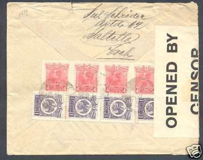 Mexico To Netherlands Censor Cover 1916 With 8 Stamps L@@K