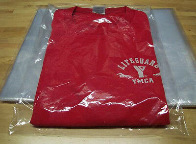 "500-CLEAR 9"" x 12"" POLY T-SHIRT / APPAREL PLASTIC BAGS 2"" FLAP 1MIL HIGH CLARITY"