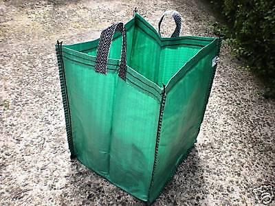 RE-USABLE GREEN GARDEN SACKS BAGS, RUBBLE, TOY STORAGE - 90 litre