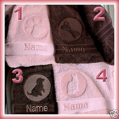 Personalised Embossed Large Dog Cat Pet Towel