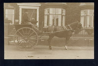 Horse drawn carriage close up RP PPC