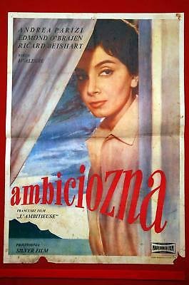 Ambicious French Brice 1959 Rare Exyu Movie Poster