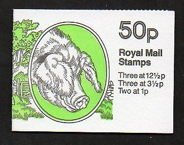 Great Britain BK239 SG FB24 booklet - Rare Farm Animals