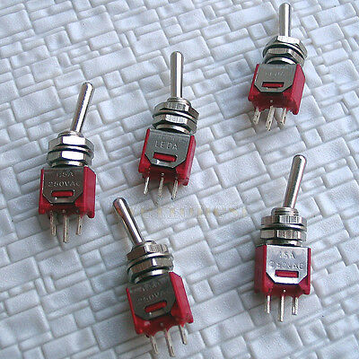 10 pcs Quality MINIATURE on/off Toggle SWITCHES #N