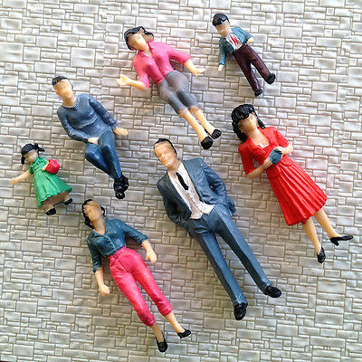 14 pcs G gauge painted 1:24 People figures passengers