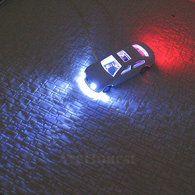 8 pcs Head Light N Scale 1:160 Model Cars lighted Cars
