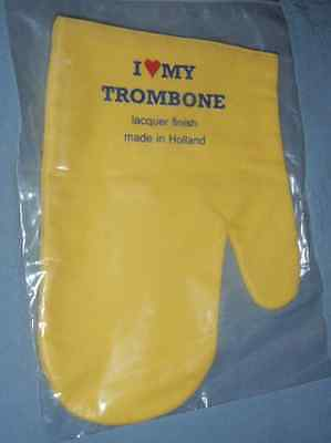 I LOVE MY TROMBONE Polish Mitten treated mitt w/liner
