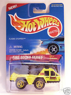 HOT WHEELS #426 FIRE SQUAD SERIES FLAME STOPPER YELLOW