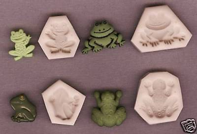 Mixed Lot of 4 Frog, Polymer Clay Push Molds Fun Crafts