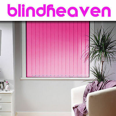 **Vertical Blinds - Made To Measure Blackout Fabrics 30 Colours**