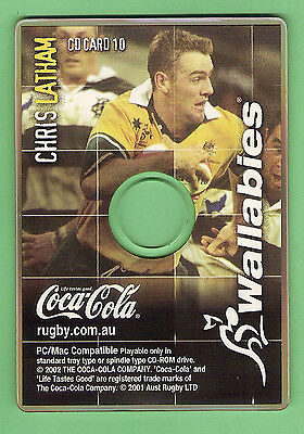 Rugby Union Coca Cola Cd Rom Card #10  Chris Latham