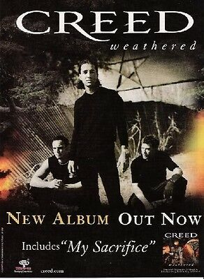 2002 PROMO AD FOR CREED ~ Weathered ~New Album out now!