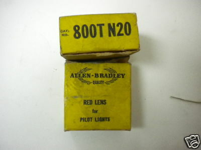 2 Allen Bradley 800T N20 Red Lens New