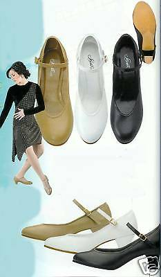 NEW Dance Character Ballroom Shoes Black Tan White M. W