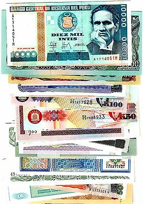 Collection 100 Billets DIFFERENTS NEUF  plusieurs pays