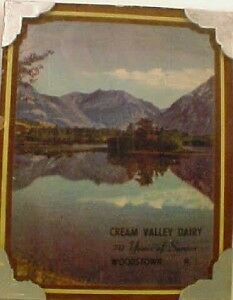Cream Valley Dairy Woodstown N J Advertising Picture