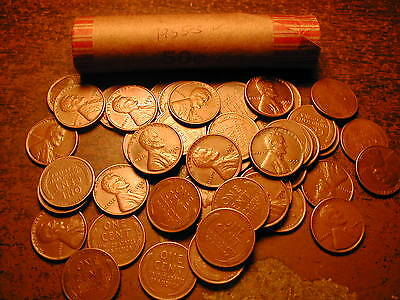 1955-S Lincoln Wheat Cent Penny Roll,  Nice Coins!