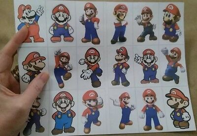 Super Mario Big Sticker Sheet 18 All Mario Only