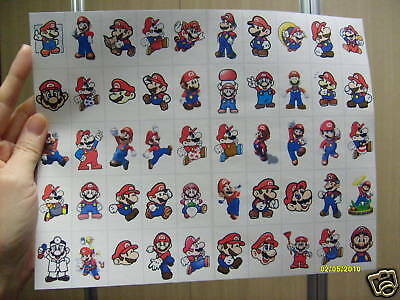 Super Mario Big Sticker Sheet 50 All Mario Only