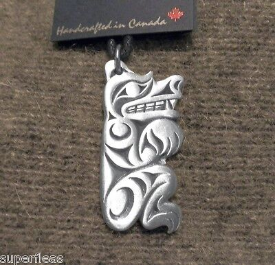 HAIDA Pewter - Symbol of Strength Grizzly BEAR NECKLACE