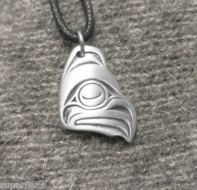 New Haida Clan Peace and Friendship EAGLE NECKLACE of Pewter - British Columbia