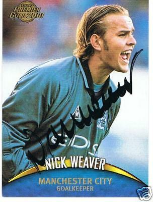 signed trade card - Nick Weaver Manchester City