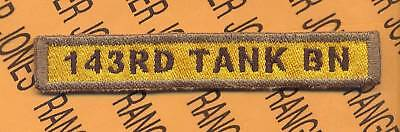 US Army 141ST HEAVY TANK BN Armored Cav AD tab patch