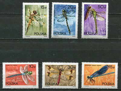 Poland 1988 Dragonfly - Insects Stamps - Mint Complete Set Of Six!