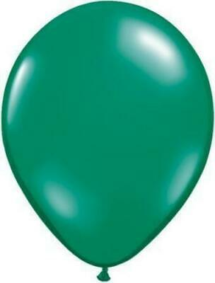 "Emerald Green Qualatex 11"" Latex Balloons x 5"
