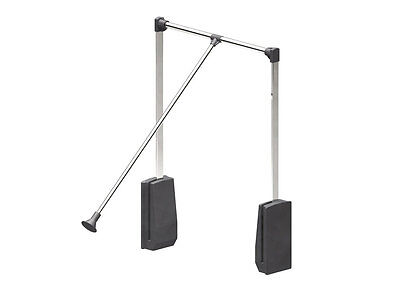 Lift / Pull Down Wardrobe Clothes Hanging Rail 830-1150mm with 12kg load rating