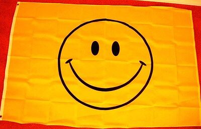 4X6 SMILEY FACE FLAG SMILE HAPPY HAVE A NICE DAY F884