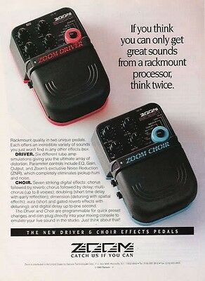 1994 PROMO AD FOR Zoom Driver & Zoom Choir pedal Effect