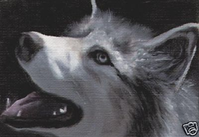 ACEO SIBERIAN HUSKY Dog Art PRINT of Painting by VERN