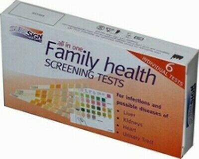 Liver Kidney Heart Urine Infection Family Health Screening Tests Test Kit Kits