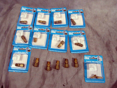 """14pk Max Cool 1/4"""" Male Coupling + 1 Tube Adapter NEW"""