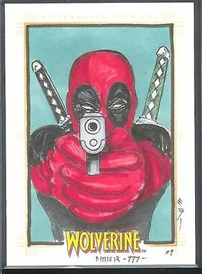 X-Men Origins Wolverine Sketch Card Steven Miller v7