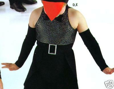 New Dance Costume Accessory Black Mitts Elbow Length Girls Small Child