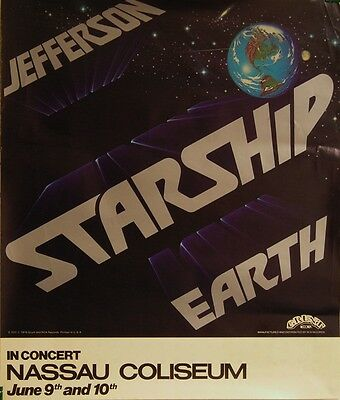 Jefferson Starship-Earth-'78 US Promo/NY Concert Poster