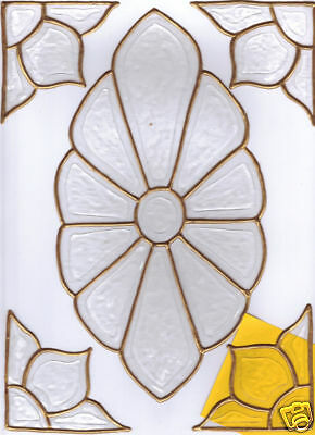 5 faux stained glass bevel  window clings choose color