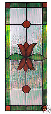 faux stained glass tulip sidelight panel window cling