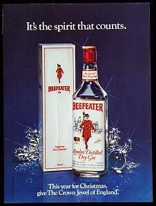 1982 Beefeater Dry Gin Magazine Print Advertisement