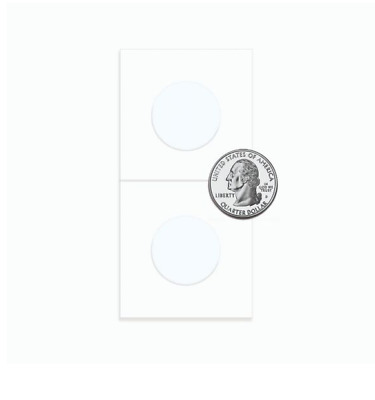 (25) BCW Quarter Paper Flips 2x2 Coin Holders 24.3mm Archival Safe Protection