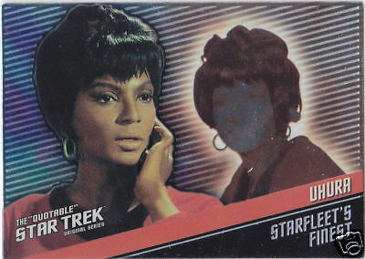 Star Trek The Original Series Quotable Starfleet's Finest F6 Uhura Nichols