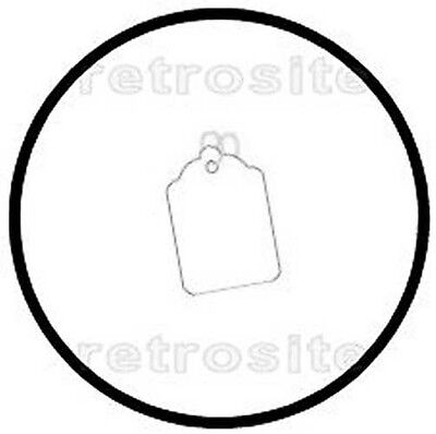 200 WHITE Merchandise/Jewlery Price Tags BLANK w/Strings STRUNG #1-BEST QUALITY-