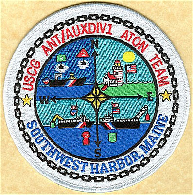 Aids to Navigation Team AUXDIV1 Southwest Harbor W4715 USCG Coast Guard patch